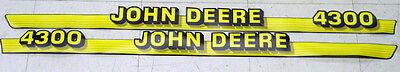 John Deere 4300 compact hood Decals M116866 M116867