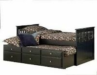 MATTRESS PLAZA Brand New Captains Trundle Bed Sale 204-775-4465