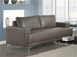MEUBEL.CA  $399 - CAUSEUSE - BONDED LEATHER GRIS