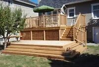 CALL THE DECKSPERTS TODAY FOR A FAST FREE ESTIMATE!!