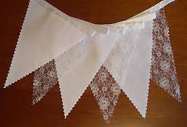 Lace wedding bunting 4 meters plus a few smaller bits