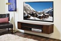 Fixation murale tv , Wall mount tv curved and flat
