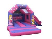 Princess Bouncy castle with Slide commercial