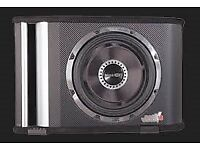 """vibe black air subwoofer 12"""" in ported box rare black carbon edition"""