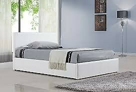 SUPREME QUALITY- BRAND NEW DOUBLE & KING LEATHER BED FRAME WITH DEEP QUILT MATTRESS -WOW OFFER