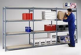 Shelving, E-Z-Rect, Trimline, Chromate, Mobile Shelving