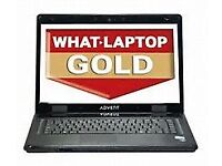 advent roma dual core laptop running windows 10pro £70 minehead