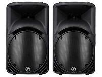 Pair of Mackie 750 Watt C300Z 12'' Passive PA Speakers