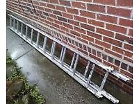 Used Double section old Aluminium Ladder approx 24ft long
