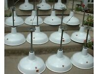 Wanted old enamel factory industrial lighting lamps