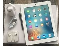 Ipad 4 16gb wifi only white mint condition boxed free book case £150 fix price