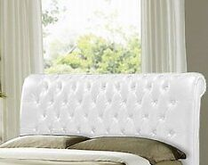 Headboard White Faux Leatherin Liskeard, CornwallGumtree - Headboard, super king size, freestanding headboard in white quilted faux leather. Slight scratches in places. Should scrub up nicely with a bit of polish. Very very similar to the pic. Its ar the back of the spare room and cant get to it to take a...