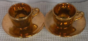 Nice Gift a pair of 22K Gold Cup and Saucer-$20