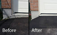 Hot Asphalt Garage Ramps! Hot Asphalt Driveway Repair!