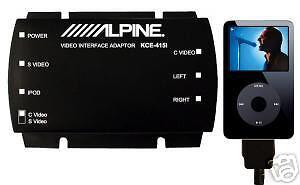 GENUINE ALPINE KCE-415I VIDEO IPOD ADAPTOR BRAND NEW