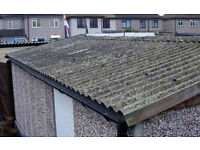 Garage Roof, asbestos garage over clad, steel sheets .asbestos removal fully trained