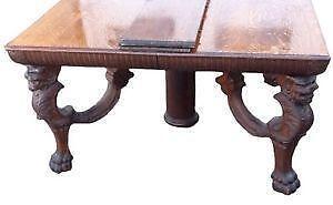 Attractive Antique Square Oak Tables