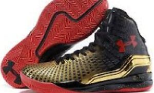UnderArmour UA Clutch Fit Drive Black, Red and Gold 8.5