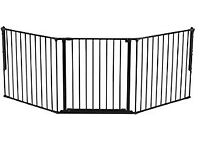 2 X Configure Indoor Safety fencing and gating (each section is Large 90-223cm, Black)
