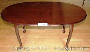 """Rosewood Finish Oval Coffee Table Pick up in Time-slot """"B"""""""