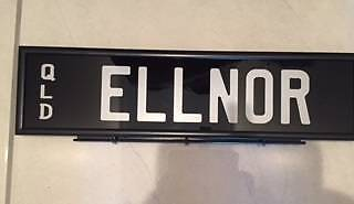 QLD Number Plates - Brand New, Not Used: ELLNOR