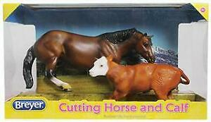 Victoria Feeds, Horse & Hound Cutting Horse and Calf Toy Set by Breyer