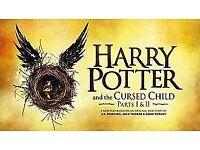 4 x Harry Potter Theatre Tickets (Stalls - Row C), 22 December 2018
