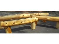 Treated softwood benches