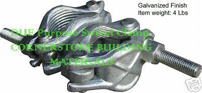 Scaffolding Cheeseborough Swivel Clamps 8 New Galvanized Swivel Clamps Cbm