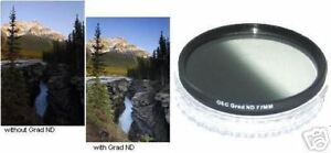 77mm NEUTRAL DENSITY Glass Lens Filter 77 Graduated GRAD ND FILTER New