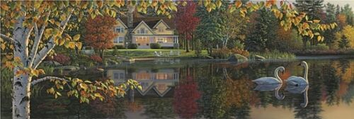 Art Print, Framed or Plaque By Kim Norlien - Autumn Grace Panoramic - NFA146A