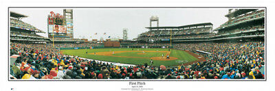 Philadelphia Phillies First Pitch At Citizens Bank Park Panoramic Poster Print