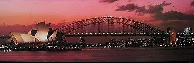 SYDNEY HARBOUR BRIDGE DOOR POSTER (158X53CM) LANDSCAPE OPERA HOUSE PICTURE PRINT (Sydney Harbour Bridge Poster)
