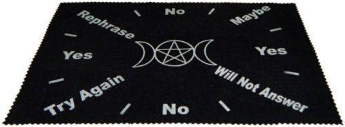 Large Velveteen Triple Moon Pendulum Dowsing Divination Mat Wiccan FREE SHIP