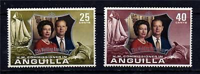 Anguilla 1972 Silver Wedding SG145/6 MNH