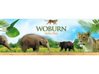 Two Adults Entry tickets to Woburn Safari Park (Any day any time) valid six months 15-02-2017