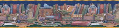Tales Border - FAIRY TALES DRAGON TRAIN DREAM Wallpaper Border WF103433