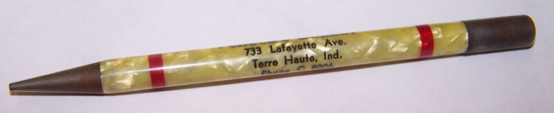 Vintage CHUCK'S MARKET Mechanical Pencil TERRE HAUTE INDIANA
