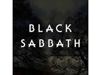 ####### BLACK SABBATH TICKETS####### LONDON O2 ---- 29th JANUARY 2017