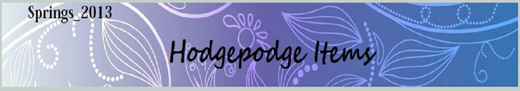 hodgepodge items