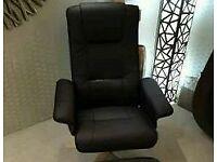 Black Swivel Chair £139 New