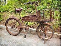 VINTAGE OLD RUSTY BICYCLES / GENTS/ LADIES / BASKET CARRIERS