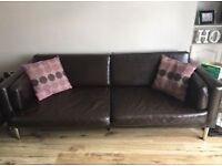 3 seater faux leather ikea sofa