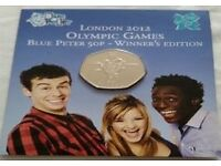 Olympic Coins - Blue Peter, Completer Coin & Others