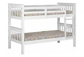 White Freshly Painted Bunk Beds