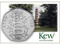 WANTED FOR CASH KEW GARDENS 50 PENCE COIN