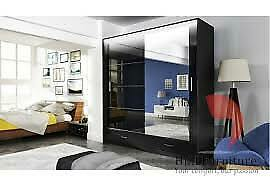 Imported Furniture-BRAND NEW MARSYLIA 2 & 3 SLIDING DOORS MIRROR WARDROBE IN 208CM SIZE🌌