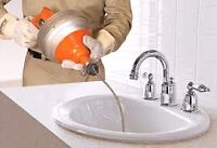 Debouchage. Drain cleaning .Camera inspection..evier -lavabo- t
