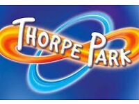 4 THORPE PARKS TICKETS FOR SALE