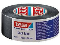 Duct Tape 48mm x 50 metre Tessa 4613 heavy duty in silver.